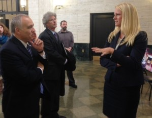 DiNapoli Tours National Comedy Center Location During Visit to Jamestown