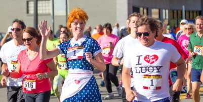 The 2015 Lucy Town Half Marathon and 5K race will take place Oct. 10 and 11 in Jamestown, NY. (Image courtesy of www.LucyRace.com)