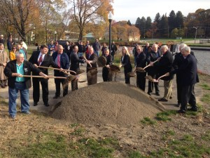 Officials Break Ground on Latest Phase of Greater Jamestown Riverwalk Project