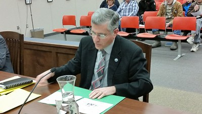 Jamestown Mayor Sam Teresi during the Jan. 25, 2016 City Council Meeting. (Image courtesy of JamestownNY.net)