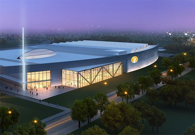 A rendering of what the future Athenex facility in Dunkirk will look like once completed.