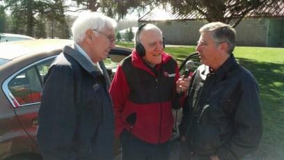 Russ Diethrick, Jim Roselle, & Mayor Sam Teresi at 2014 Easter Egg Hunt