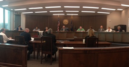 The Jamestown City Council during its May 2016 voting session.
