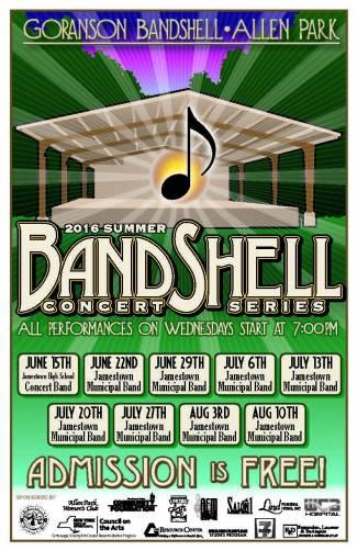 2016 Bandshell Concert Poster