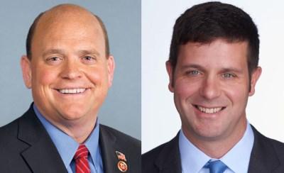Rep. Tom Reed  (R-Corning) (left) and John Plumb (D-Lakewood)