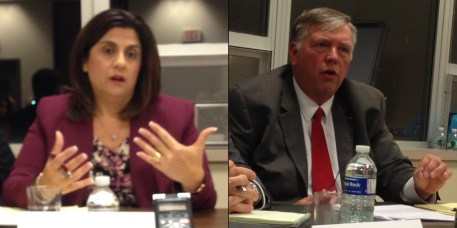 Chautauqua County Family Court Judge candidates Sally Jaroszynski (D-Falconer) and Michael Sullivan (R-Fredonia)