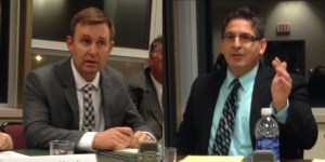 Chautauqua County Acting District Attorney Patrick Swanson (D-Fredonia) and candidate Jason Schmidt (R-Fredonia)