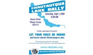 Chautauqua Lake Partnership to host Rally Saturday, September 1