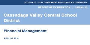 Cassadaga Valley School District Overestimated Expenses by $3.2 Million During Three-Year Span