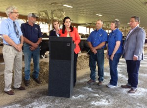 GOP Senate Candidate Chele Farley Discusses Dairy, Agriculture During Jamestown Stop