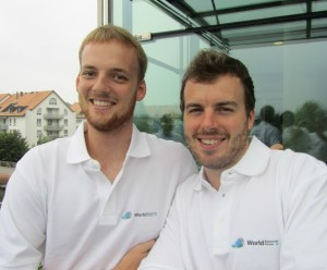 Interns Sascha and Fritz