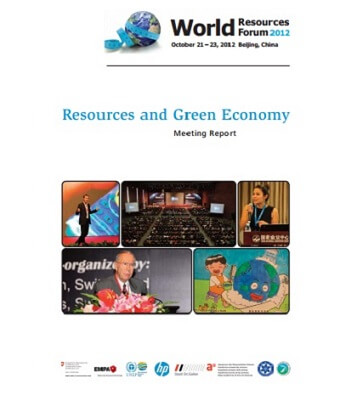 Resources and Green Economy – WRF 2012 Beijing Meeting Report