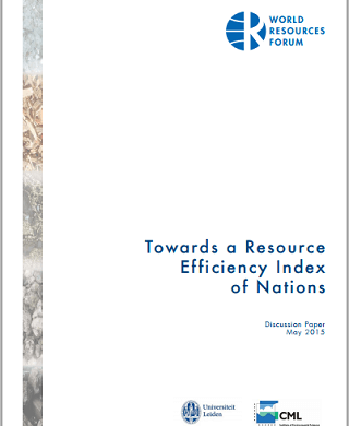 Towards a Resource Efficiency Index of Nations