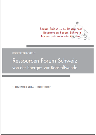"First ""Ressourcen Forum Schweiz"" Meeting Report Published"