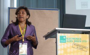 WRF Program Manager Sonia Valdivia recycling SRI
