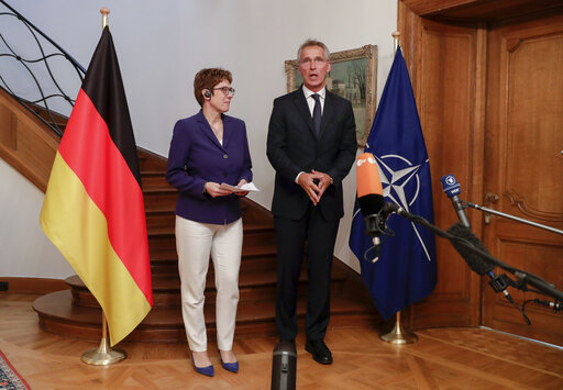German Defence Minister and Christian Democratic Union (CDU) party leader Annegret Kramp-Karrenbauer in Brussels