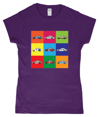 Ford Escorts T-Shirt in Purple