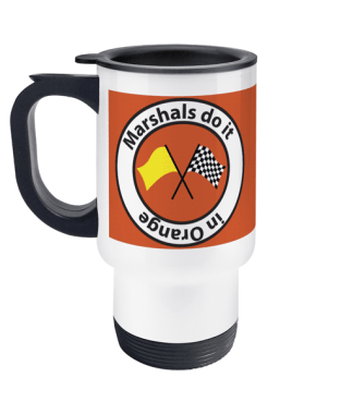 Marshal's do it in Orange travel mug