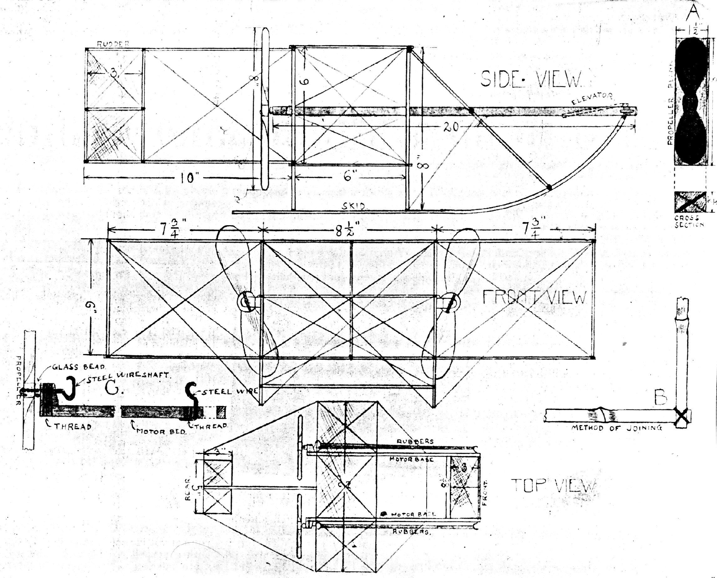 Vintage Model Airplane Plans