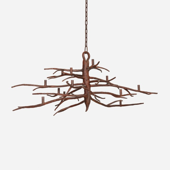 119 Michael Del Piero Iron Branch Chandelier 1 Of