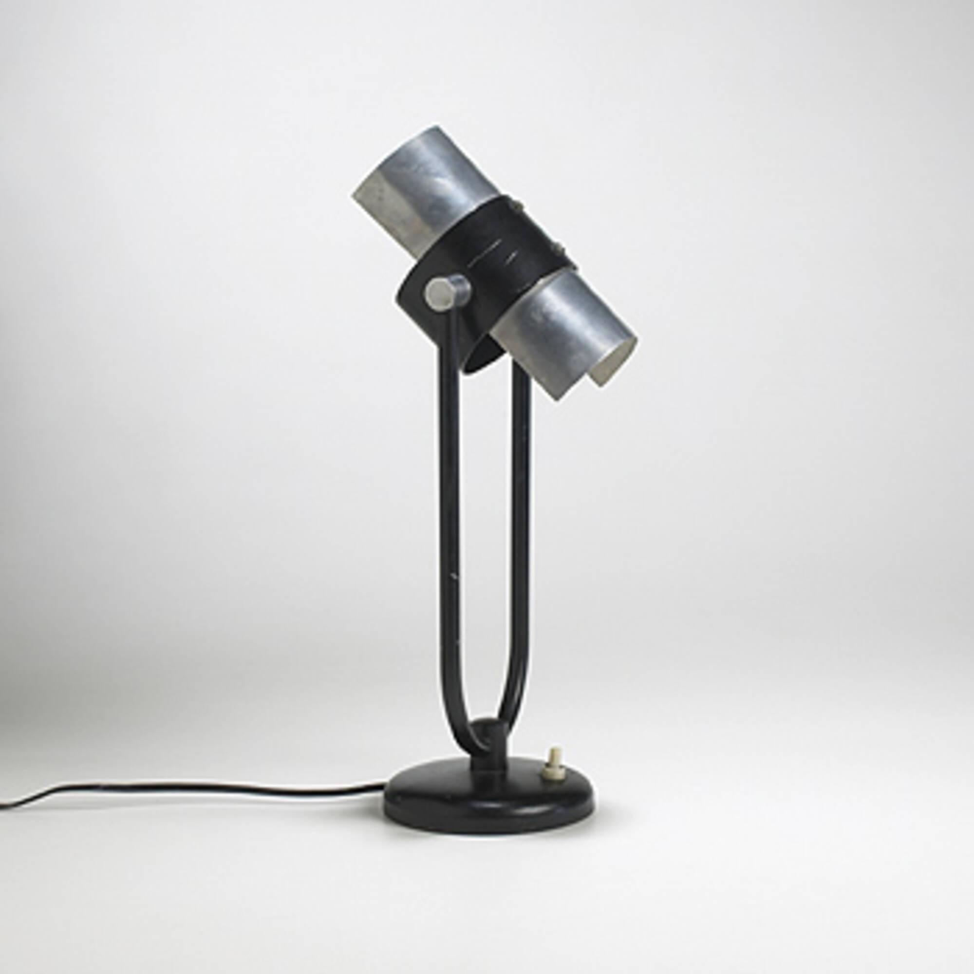 236 SERGE MOUILLE, Secretaire lampe