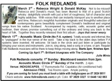 Folk redlands 3rd march 2013