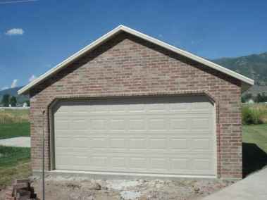 brick stucco detached garage