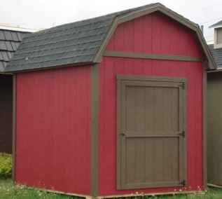 farm style shed with overhangs