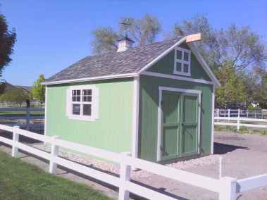 orchard style barn shed green