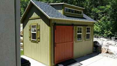 green orchard shed side