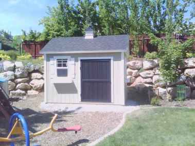 three tone custom shed