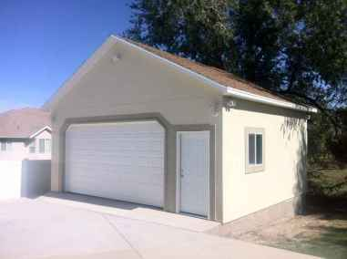 two tone garage with door