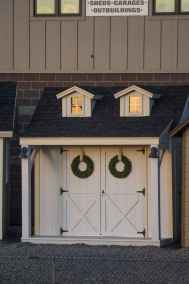 white double dormer shed