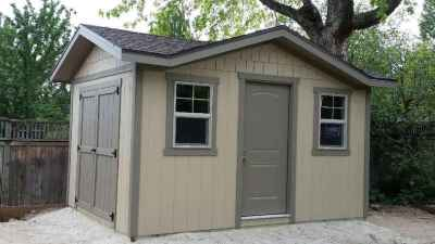 custom shed with gables