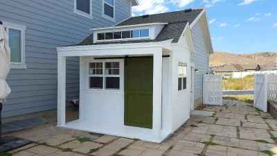 side white orchard shed