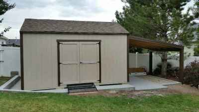 shed with overhang