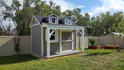 orchard shed with porch and deck