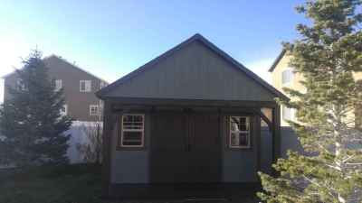shed with gable end porch