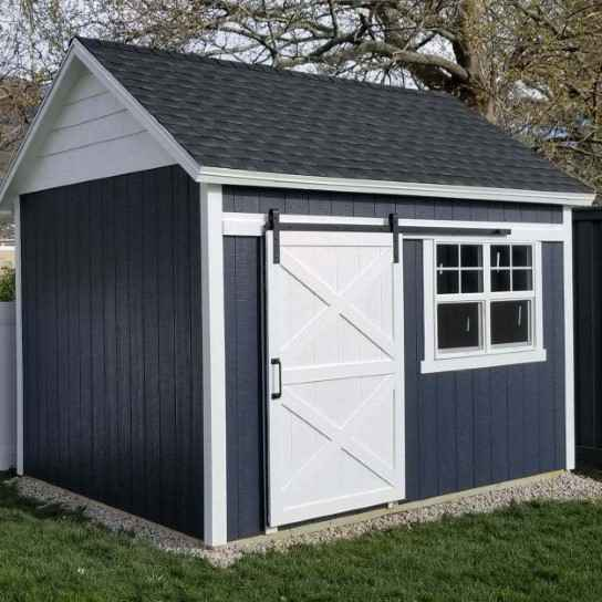 dark gray square custom shed - Wright Shed Co.