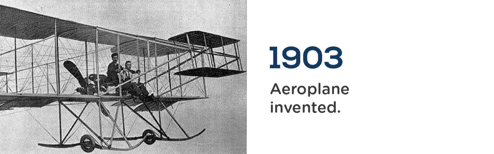 The Aeroplane was invented in 1903 by the Wright Brothers. Wrigley Claydon Solicitors, Trusted for 200 years