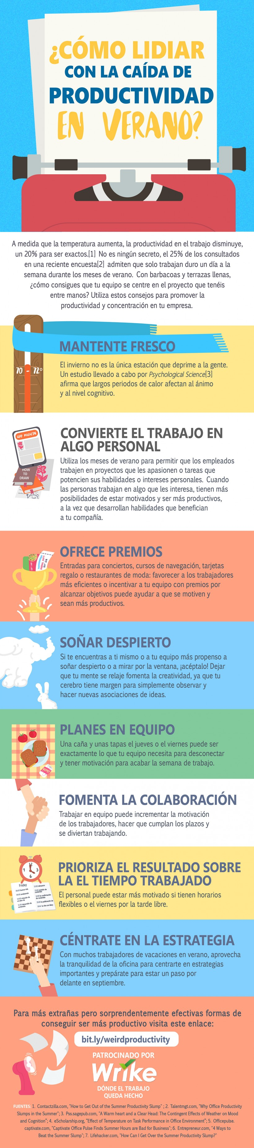 8 Trucos para Combatir la Caída de Productividad en Verano (#Infografía)