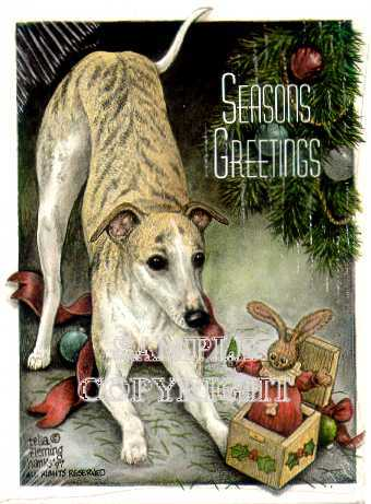 Dog Holiday Christmas Cards By Telia Fleming Hanks