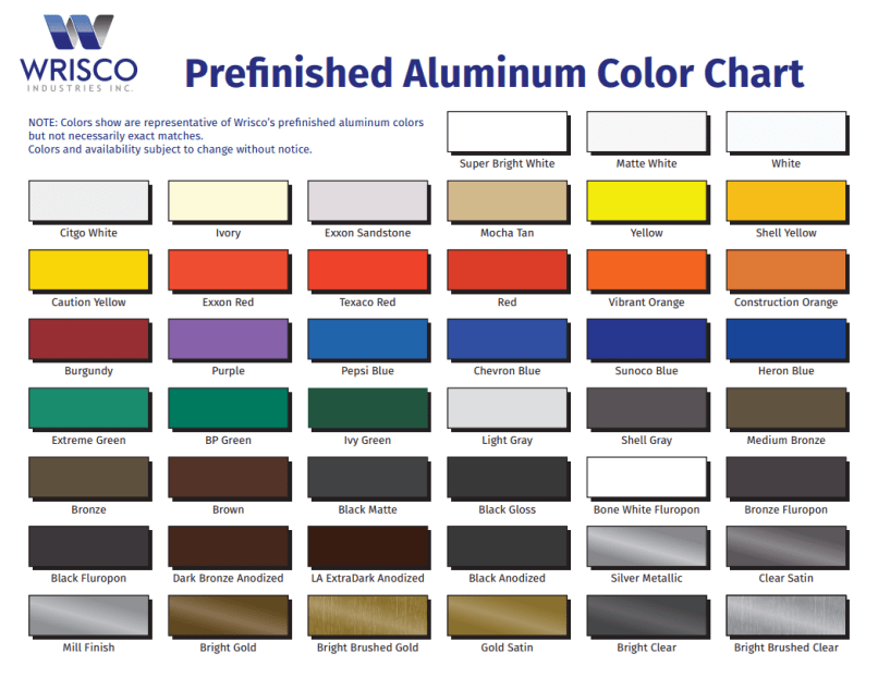 Anodizing Color Chart For Aluminum | mountainstyle co