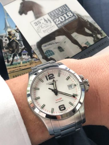 The Longines Conquest VHP, ready to hit the track at Churchill Downs