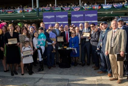 The Longines DIstaff Race Winners. Photo is courtesy of Longines.