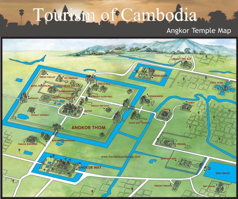 mapa Angkor