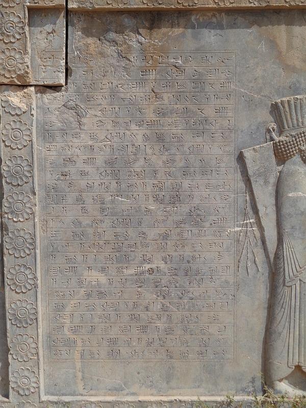 pismo klinowe w persepolis