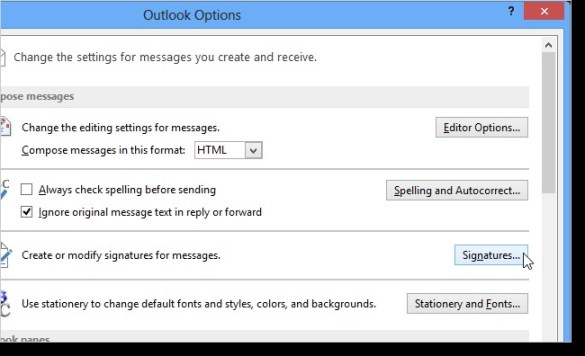 How to add a business card image to a signature in outlook 2013 business card outlook colourmoves