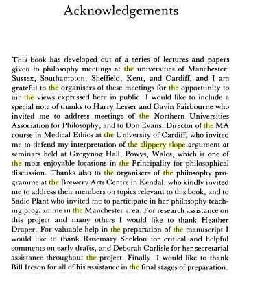 Acknowledgement in thesis