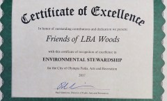 Awards for Friends of LBA Woods